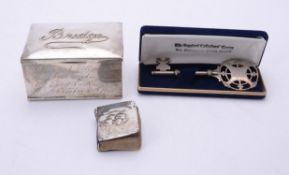 An Edwardian silver bridge box by Levi & Salaman
