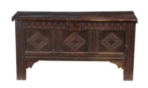 An oak coffer