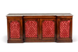 Y A Victorian rosewood inverted breakfront side cabinet