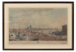 After N. R. Black, View of London, taken from Albion Place
