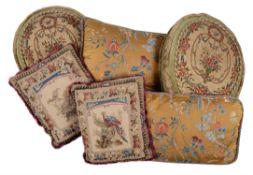 Three pairs of cushions