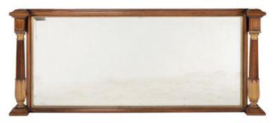 Y Y A rosewood and parcel gilt overmantel mirror
