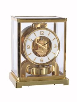 A gilt brass 'Atmos' timepiece, Jaeger-LeCoultre model 526-6, circa 1970