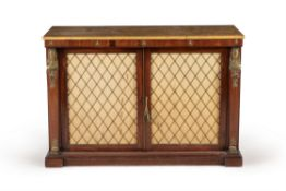 A mahogany and gilt metal mounted side cabinet