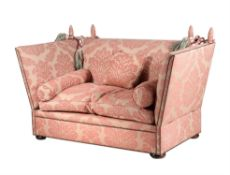 An upholstered Knole sofa
