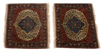 A pair of Tabriz rugs or prayer mats