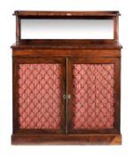 Y A Regency rosewood side cabinet