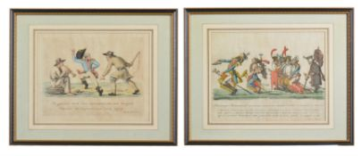 A set of four Napoleonic caricatures