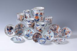 A group of fifteen Chinese Imari wares