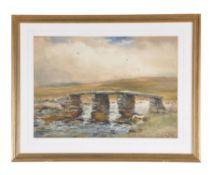 † Wycliffe Egginton (British 1875-1951), A Dartmoor clapper bridge