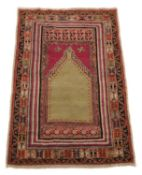 A Turkish kushier prayer rug