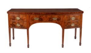 A George III mahogany and crossbanded sideboard