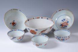 One Chinese Imari punch bowl