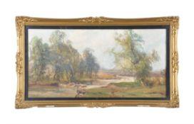 John Faulkner (Irish 1835-1894) , Dee Side Ballitea; A river landscape (2)