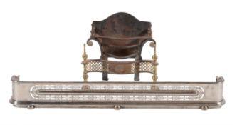 A George III steel fender