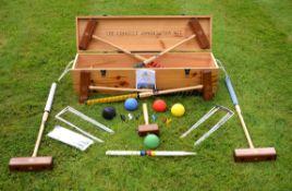 A part croquet set
