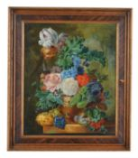 Continental School (19th/20th century) , A pair of still lives of flowers