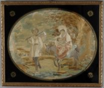 A late George III silkwork picture