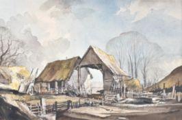 λ Rowland Hilder (British 1905-1993), Farmyard