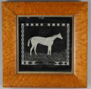 """Seaman, Winner, Liverpool Grand National 1882""; Folk Art commemorative mirror"