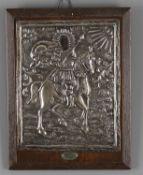 A 19th century Greek silver oklad