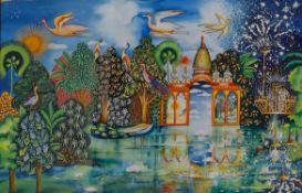 λ Roberta Booth (British B.1947) Garden of dreams