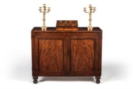 A Regency mahogany collector's cabinet, circa 1815