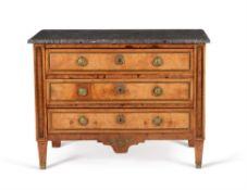 A Continental figured ash and gilt metal mounted commode, late 18th century