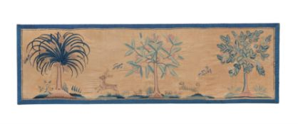 A pair of English crewel embroidery panels