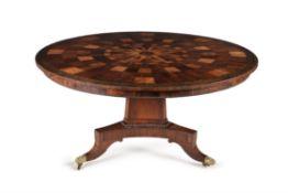 A Regency parquetry centre table, circa 1815