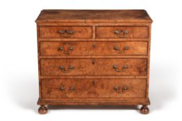 A George III burr elm chest of drawers, circa 1780