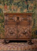 A Charles II oak and parquetry chest, circa 1680