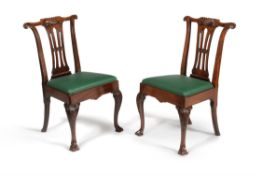 A pair of Irish George II mahogany chairs, circa 1750