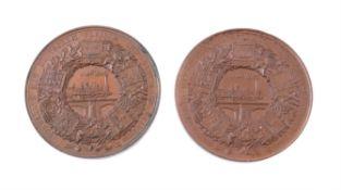 Germany, Berlin, Industrial Exhibition 1844, bronze medals (2)