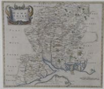 Three maps pertaining to Hampshire including one after Robert Morden