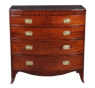 A Regency mahogany bowfront chest of drawers
