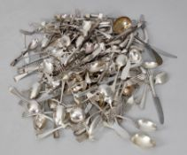 A large quantity of silver plated cutlery