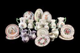 A selection of mostly Welsh pottery