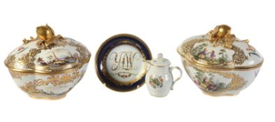 A group of Meissen and Dresden porcelains
