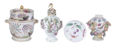 A selection of Derby porcelain