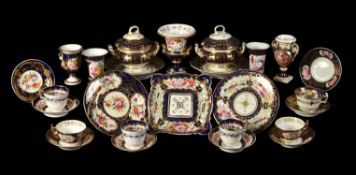 A selection of mostly Coalport and Derby porcelain