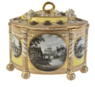 A Chamberlain's Worcester yellow-ground bough pot and pierced cover
