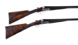 A matched pair of W.P. Jones 12 bore boxlock ejector shotguns