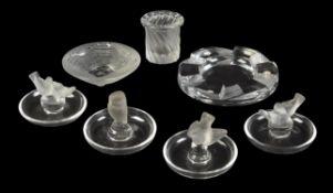 Lalique, Cristal Lalique, four cendriers