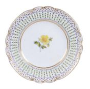 A Welsh porcelain plate