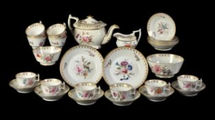 An English porcelain 'London' shape part tea service
