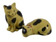 λ Piero Fornasetti, a pair of ceramic cats