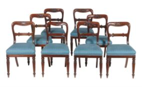 A set of eight early Victorian mahogany dining chairs