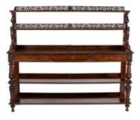 Y A George IV rosewood serving table
