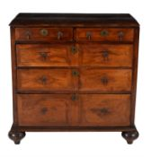 A William III walnut chest of drawers